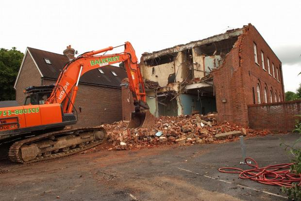 Developer said no swifts were harmed as demolition goes ahead