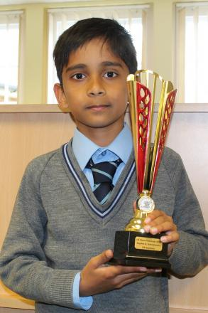 Primary school pupil is now chess 'supremo'