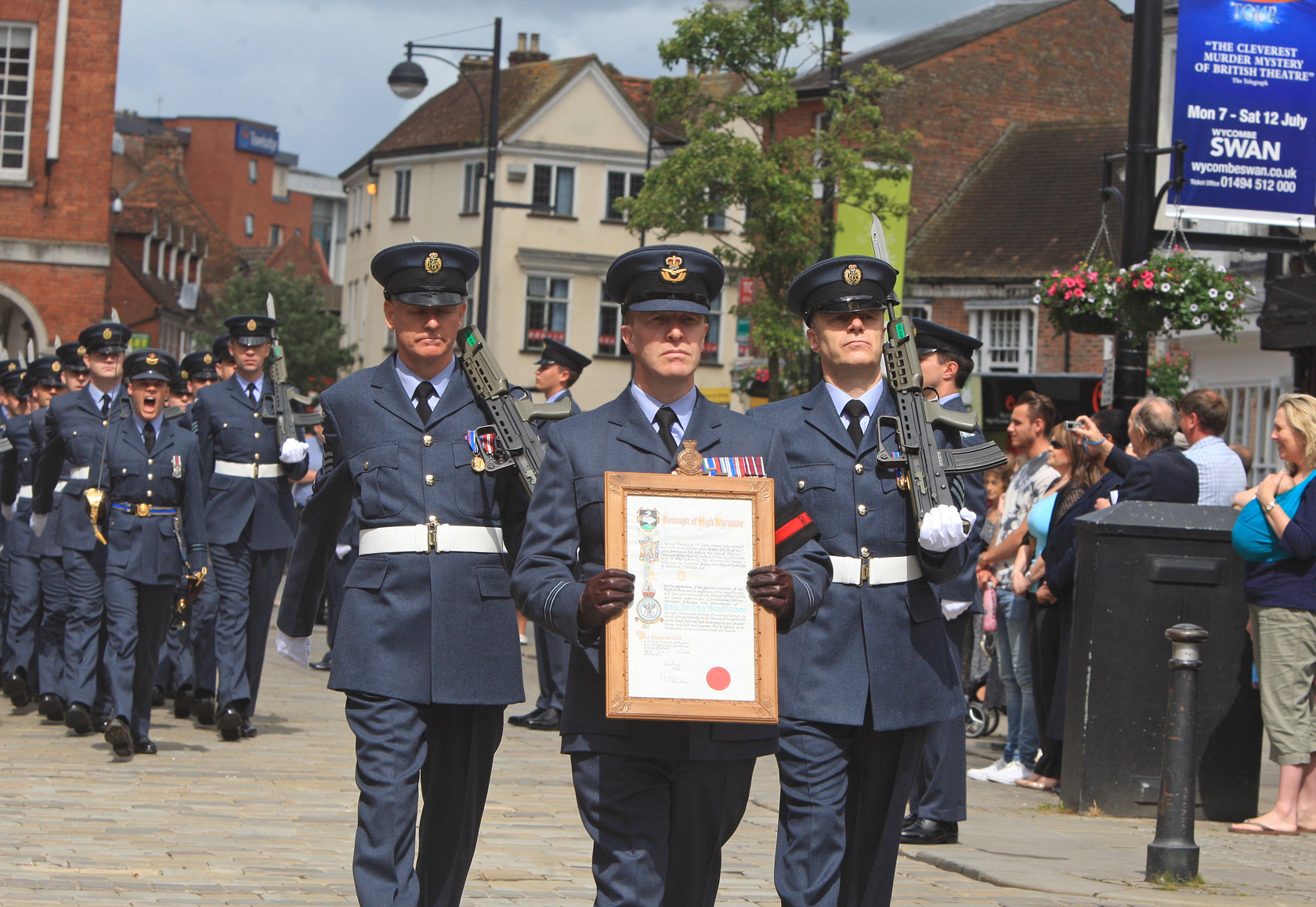 Aircraft fly-past as RAF parades through High Wycombe