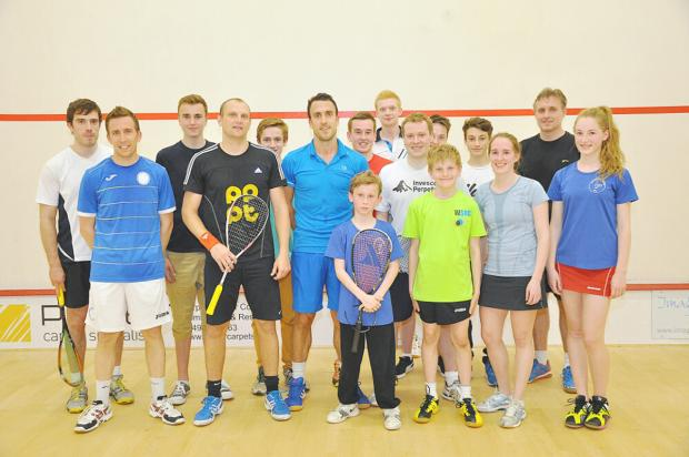 Peter Barker and Chris Gillespie played a series of exhibition matches in Wycombe last week.