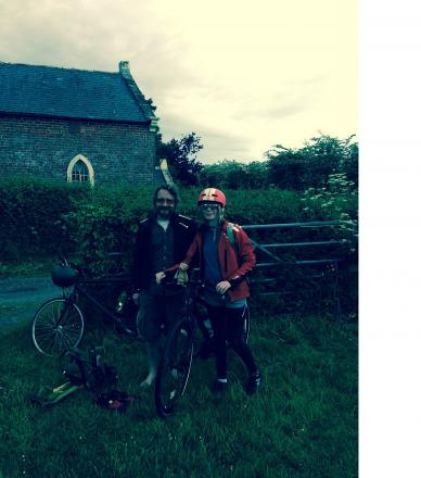 Alan and Martha Bones stop for a break on their cycle ride