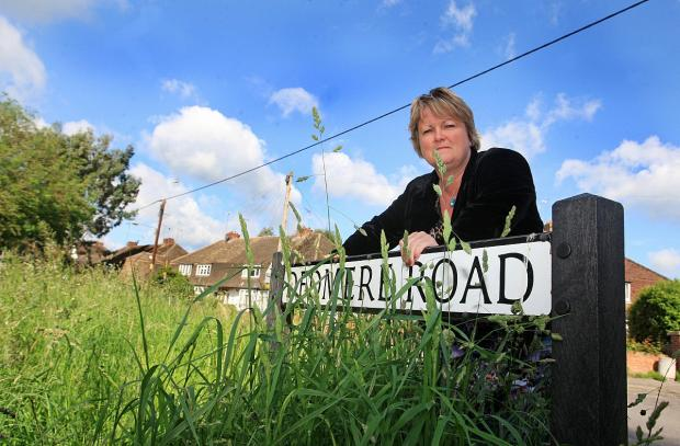 Suzanne Brown was among the first to speak out against council cuts to grass cutting