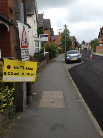 Matters have gone from bad to worse since crews were forced to weave round parked cars during resurfacing work last week