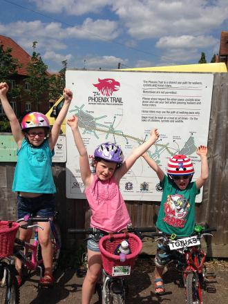 Young siblings raise money with charity cycle ride