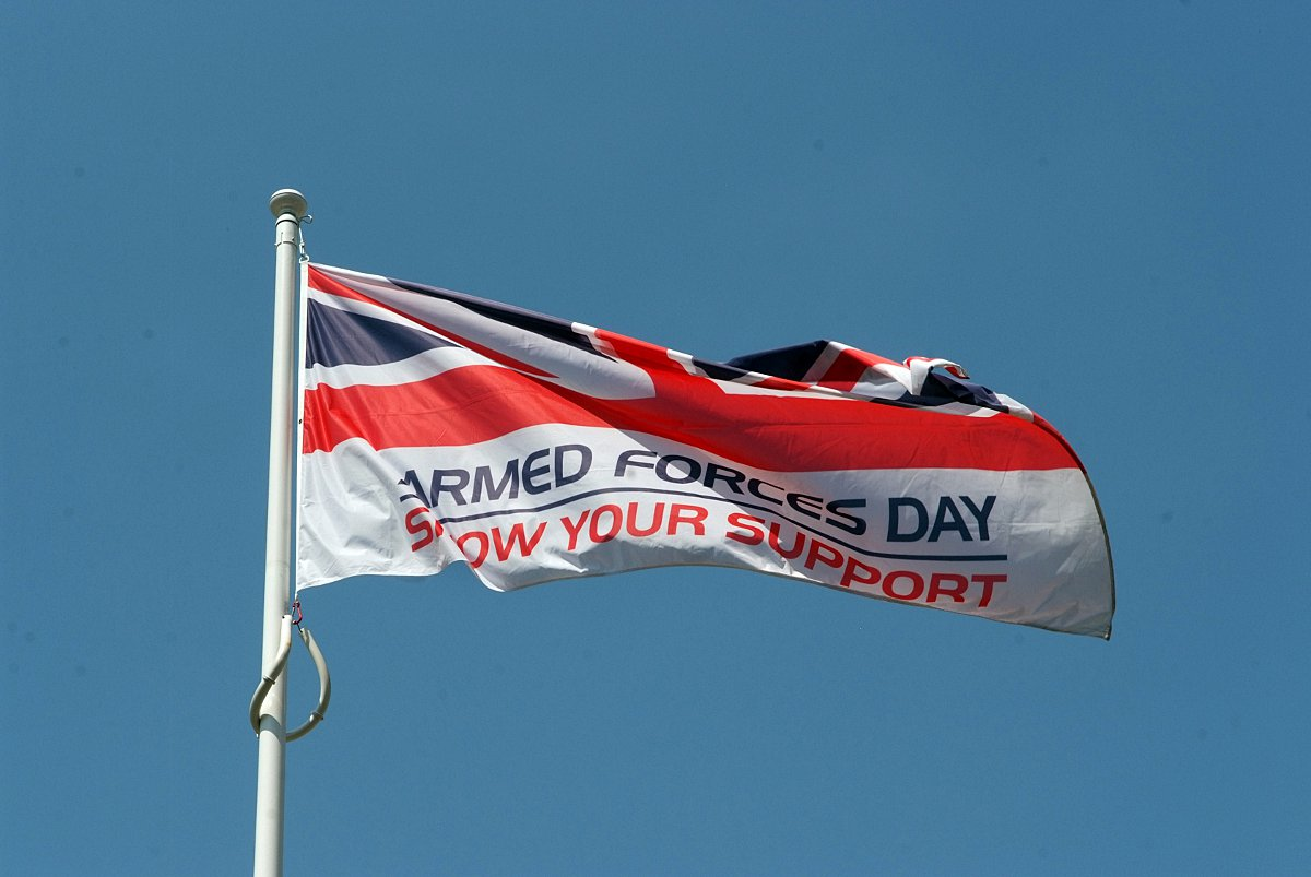 Flags raised around Bucks to salute armed forces