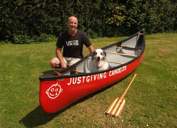One man and his dog take to Thames for 135-mile challenge
