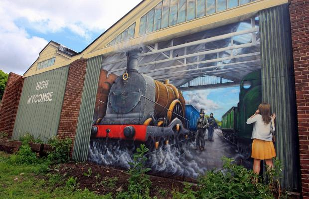 Bucks Free Press: Giant mural unveiled on historic Brunel Sheds
