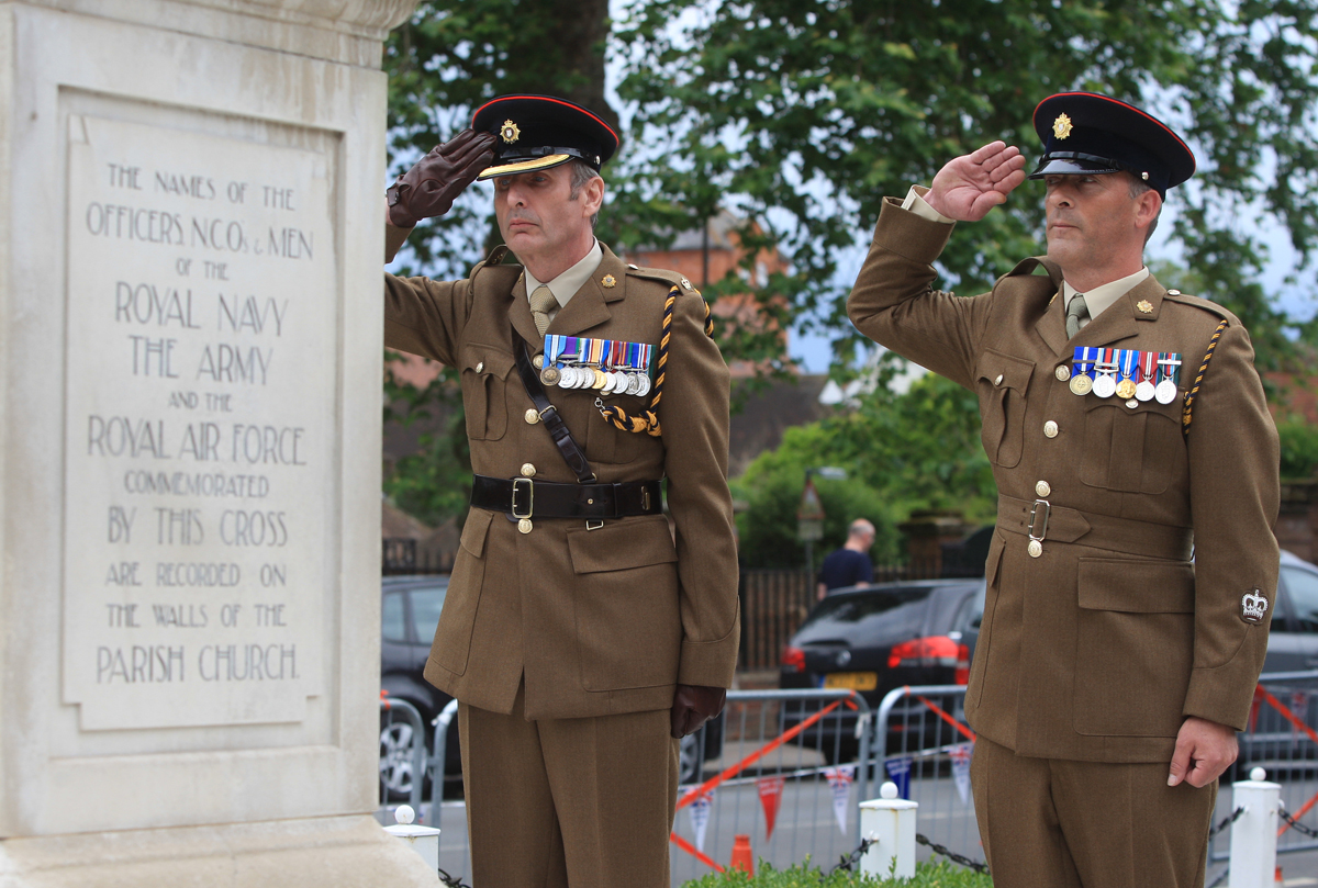 Armed Forces celebrations boosted by special arrival