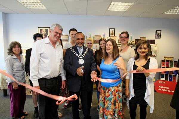 Chesham mayor Mohammad Fayyaz declares Auberge du Chocolat officially re-open
