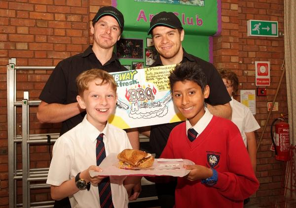 School adds to Subway menu as pupils show off sandwich skills