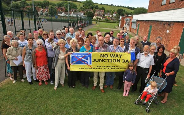 Angry protestors say 'No Way Junction 3A'