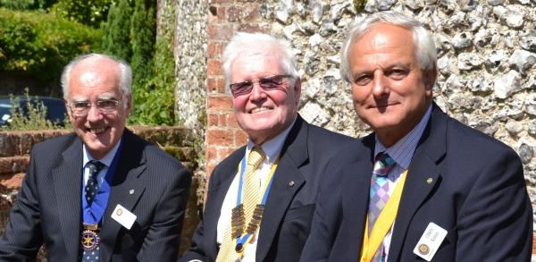 L to R: Vice President Chris Kelsey, new President Brian Jonson and outgoing president David Duxbury