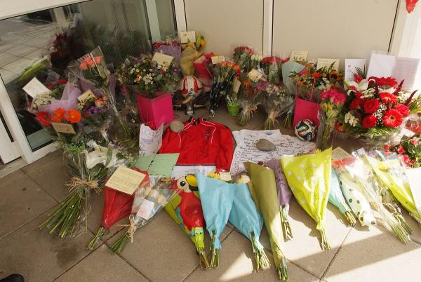 Tributes at the Wye Valley School