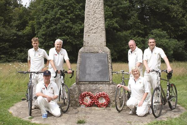 Cricketers cycling to Belgium on quest to honour First World War veteran