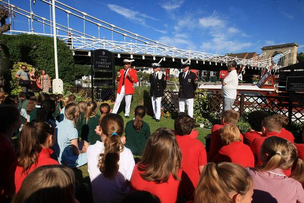 Pupils learn more about wildlife during the Swan Upping