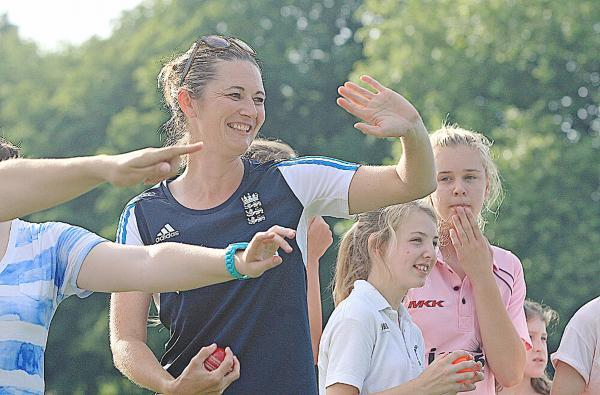 England captain Charlotte Edwards at Marlow's taster session