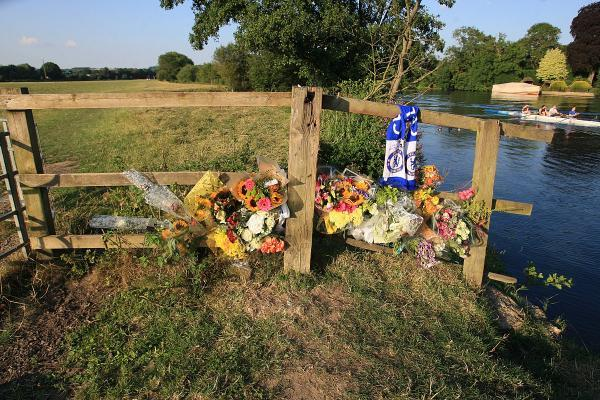 Floral tributes left by the River Thames near where Kyrece Francis died