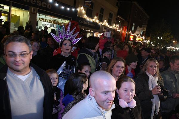 A Christmas light switch-on event in Chesham