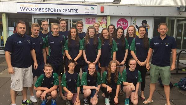 The team Wycombe District Swimming Club are sending to the National Championships
