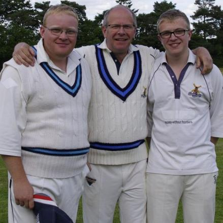 Chris Edwards, far right, with brother Steve and dad Allen