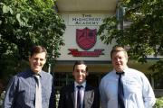 Trainee teachers, from left to right, Jeremie Tomlin, Dan Goodge and Tom Price.