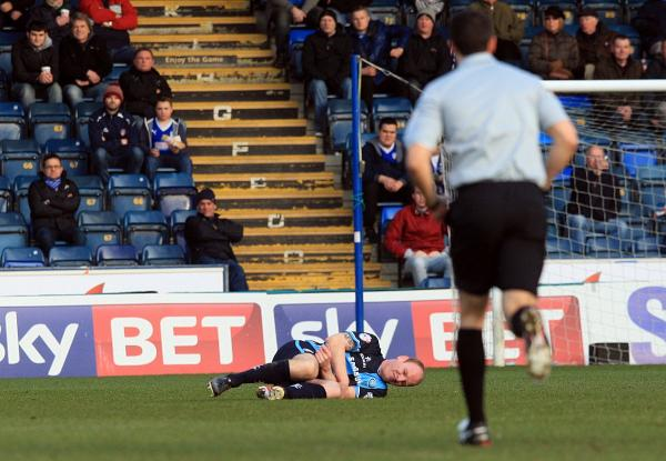 Gary Doherty needed surgery after breaking his arm against Chesterfield