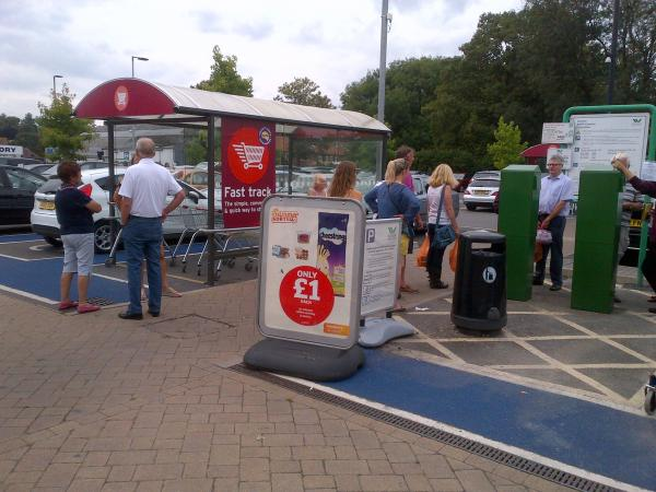 Motorists and shoppers in Central car park in Marlow last week