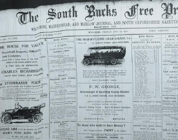 The view of The South Bucks Free Press when war was declared