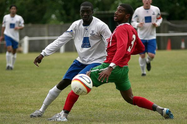 Jerome Okimo in action for Chalfont St Peter