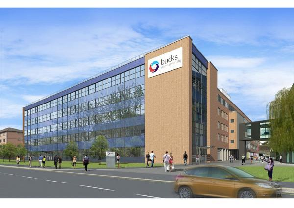 An artist's impression of how South Wing at Bucks New University's campus in High Wycombe will look.