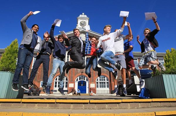 Royal Grammar School students jump for joy