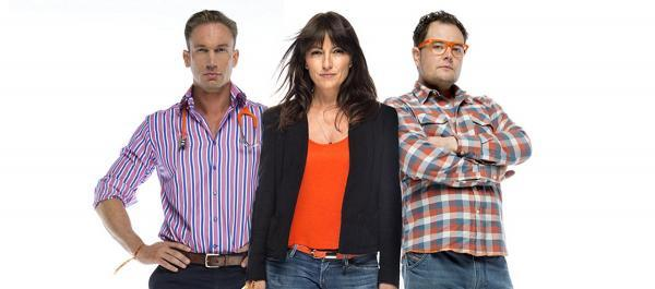 Dr Christian Jessen, Davina McCall and Alan Carr