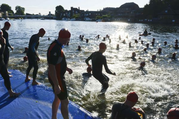 Hundreds brave the Thames for bank holiday weekend swim