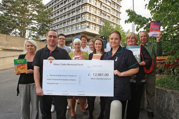Husband gives £12k to nurses who fought to save wife's life