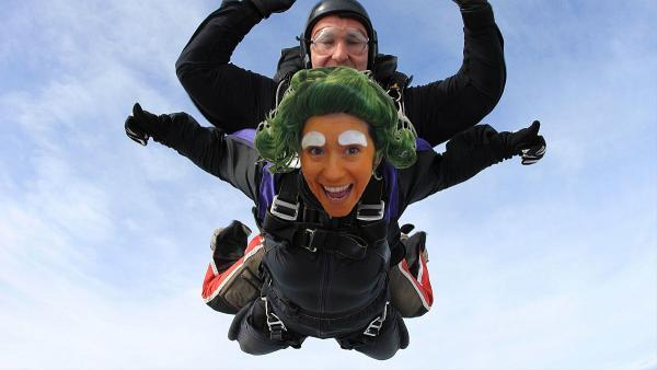 Watch the sky for Oompa Loompa parachute jump