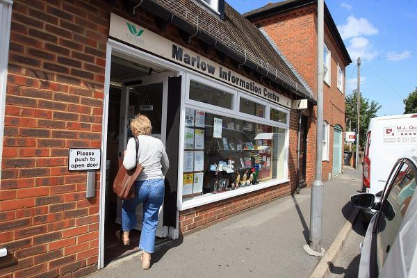 The information office, which also offers council services to residents, could be relocated