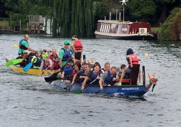 Dragon boat racing at last year's regatta