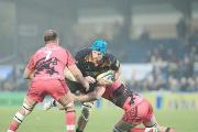 James Haskell take on the London Welsh line
