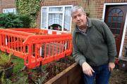 Sinkhole 'starting to spread' outside Ted Rolfe's home in Holtspur