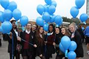 Students release balloons to spread word of anti-bullying
