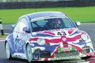 Still on track: Martin Rutherford in his Beetle at Snetterton