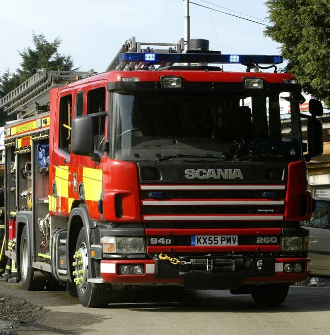 Fire at recycling centre