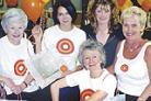 On target, from left: Caroline Livingstone, Deborah Parke, Barbara Upsdell, Carol Finlay and Brenda Chaney at last year's fashion show