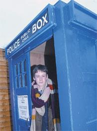 Time traveller : Tom Rees Kaye couldn't believe it when his parents gave him this Tardis