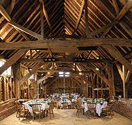 Beam me up: The Mayflower Barn at Old Jordans built using timbers from ships which took the Pilgrim Fathers to America