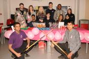 Students raise more than £200 for breast cancer charity