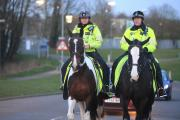Officers from Thames Valley Police's mounted unit last week