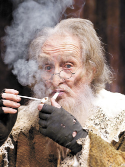 Roy Dotrice takes on the part of John Aubrey in Brief Lives