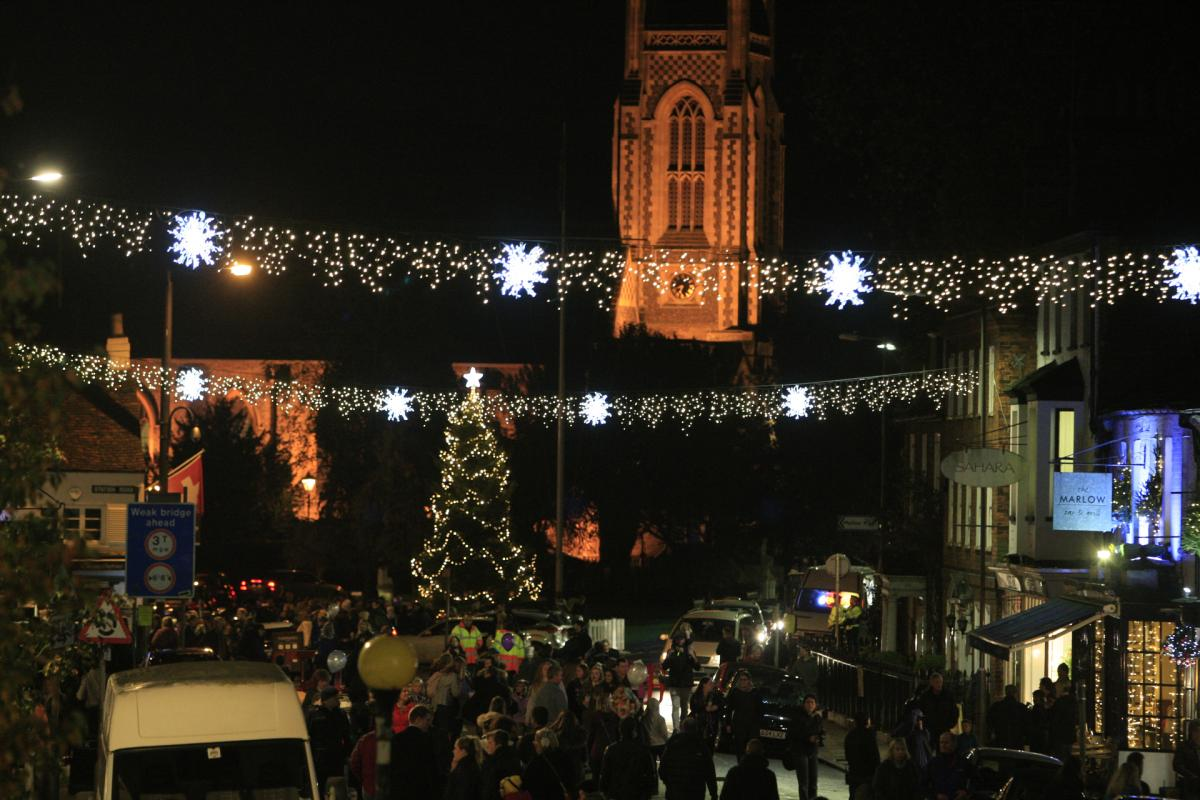 revealed a list celebrity to flick switch on towns christmas lights