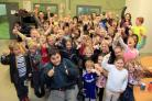 Happy faces at Hazlemere Youth Centre in Rose Avenue after refurbishment work. Picture by ARM Images.